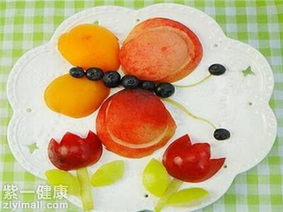 水果拼盘的做法三:小蝴蝶果盘