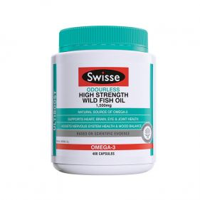 澳洲Swisse Omega-3深海鱼油软胶囊 1500mg*400粒