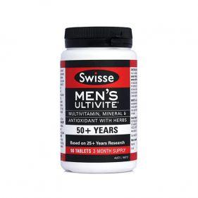 澳洲Swisse 中老年男性复合维生素/50岁+男性专用 90粒*瓶