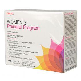 美国 GNC/健安喜 孕妇综合营养包30天 含钙片/DHA/维生素 3瓶*盒