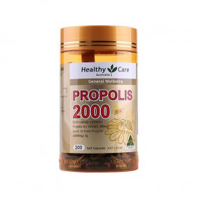 澳洲 Healthy Care 蜂胶软胶囊 2000mg*200粒