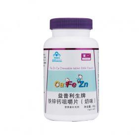 紫一 益普利生牌铁锌钙咀嚼片(奶味) 1.0g*60片