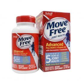 美国 Schiff Move Free 氨糖软骨素维骨力加强版 80片*瓶