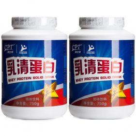 2瓶装| 康比特 乳清蛋白粉增肌粉 750g*瓶