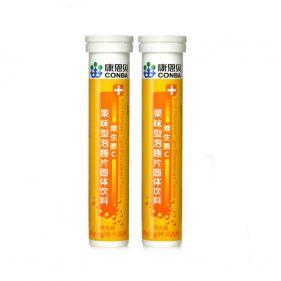 2瓶装| 必赢国际官网娱乐 维生素C果味型泡腾片  4g*20片