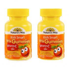 2盒装| 澳洲 Nature's Way/佳思敏 Kids Smart儿童维生素c+锌软糖 60粒*瓶