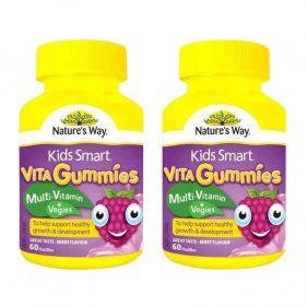 2瓶装| 澳洲 Nature's Way/佳思敏 儿童维生素蔬菜软糖 60粒*瓶