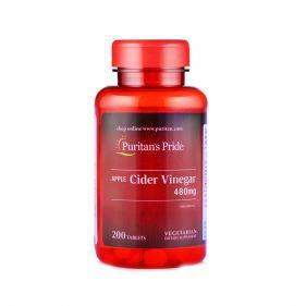 美国 Puritan's Pride/普丽普莱 苹果醋 480mg*200粒
