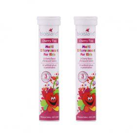 澳洲 bioisland/佰澳朗德 小樱桃营养泡腾片 钙镁铁综合补充剂 2*20片/管