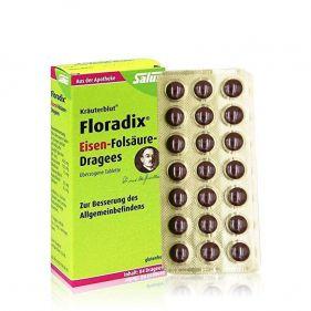 德国 salus 铁元 Floradix孕期备孕补铁抗疲劳叶酸84粒*盒