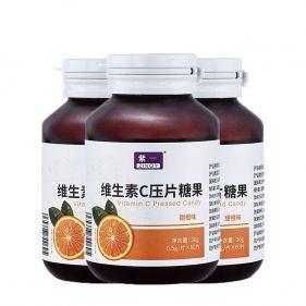 【三瓶装】紫一 维生素C压片糖果 600mg*60片